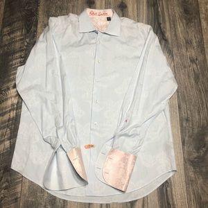 Robert Graham long sleeve cuff link shirt